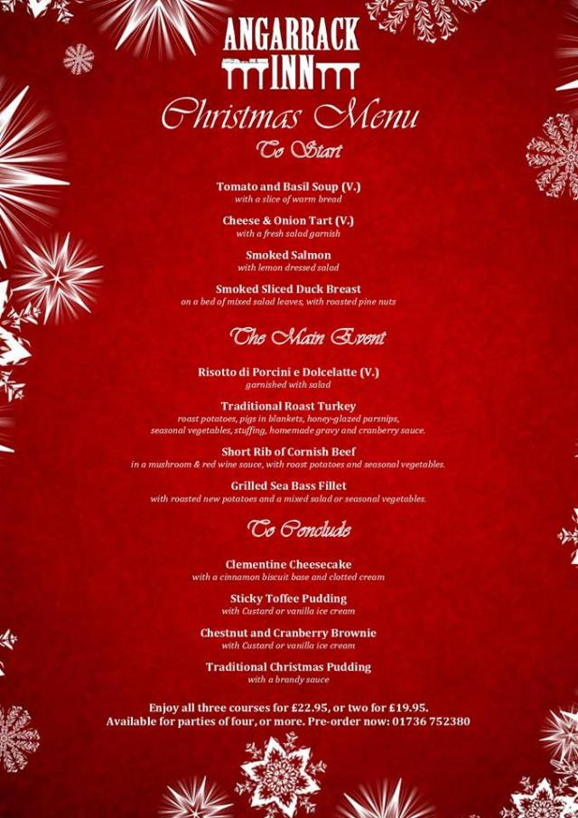 We're now taking bookings for the Christmas period! Our seasonal menu will be available from the Friday 8th December :) Drop us a message or give us a call to book!